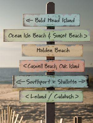 Southern North Carolina Beach Markers
